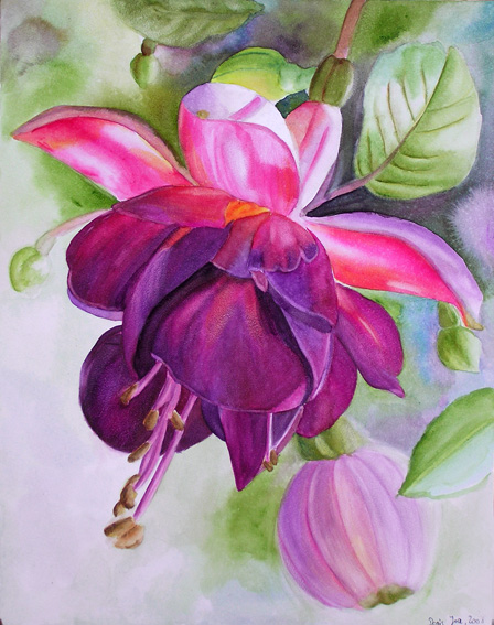 Flower paintings for sale floral gallery for Watercolor painting flowers