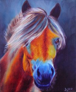 Portrait Horse Painting in Oil