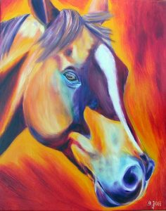 Colourful Horse Oil Painting