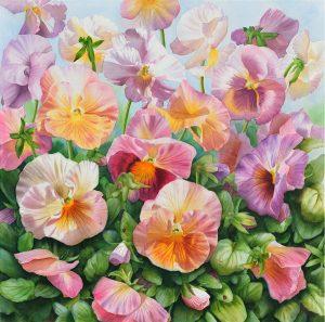 Pansy Pansies Flower Painting in Watercolor