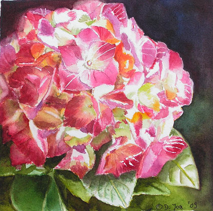 watercolor painting flowers. watercolor painting on 140
