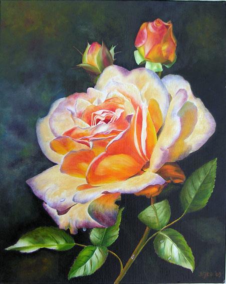 Rose ghislaine de féligonde ii oil painting by doris joa