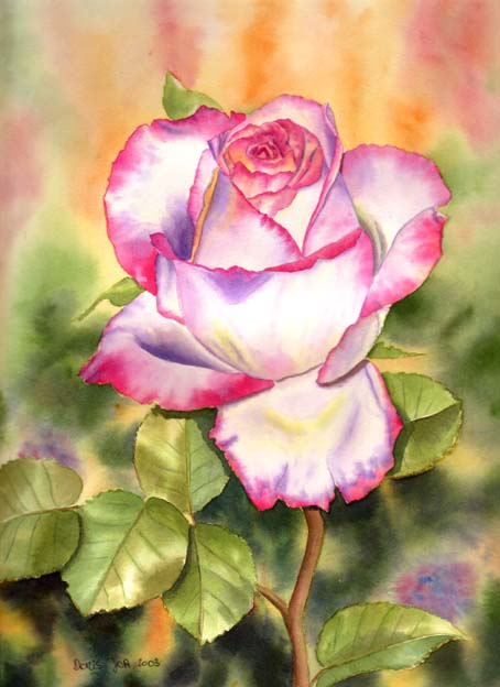 A wonderful rose | Watercolor & Oil Paintings of Roses and ...