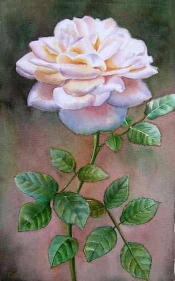 lions rose doris joa watercolor oil paintings. Black Bedroom Furniture Sets. Home Design Ideas