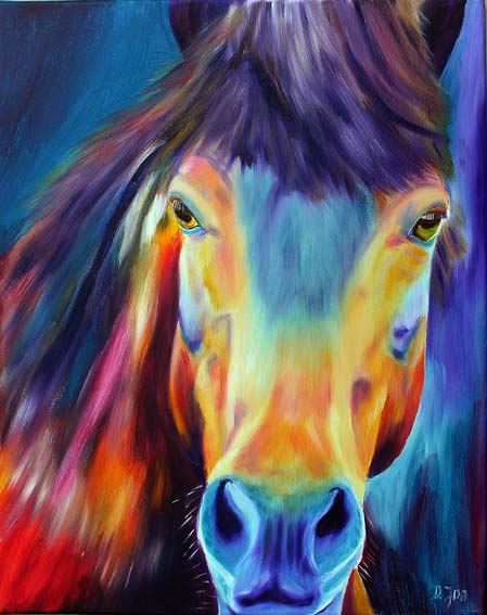 colourful horse painting famous oil painting of a colourful horse