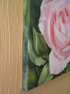 Watercolor Painting on watercolor canvas - How to stretch watercolor paper - make your own canvas.