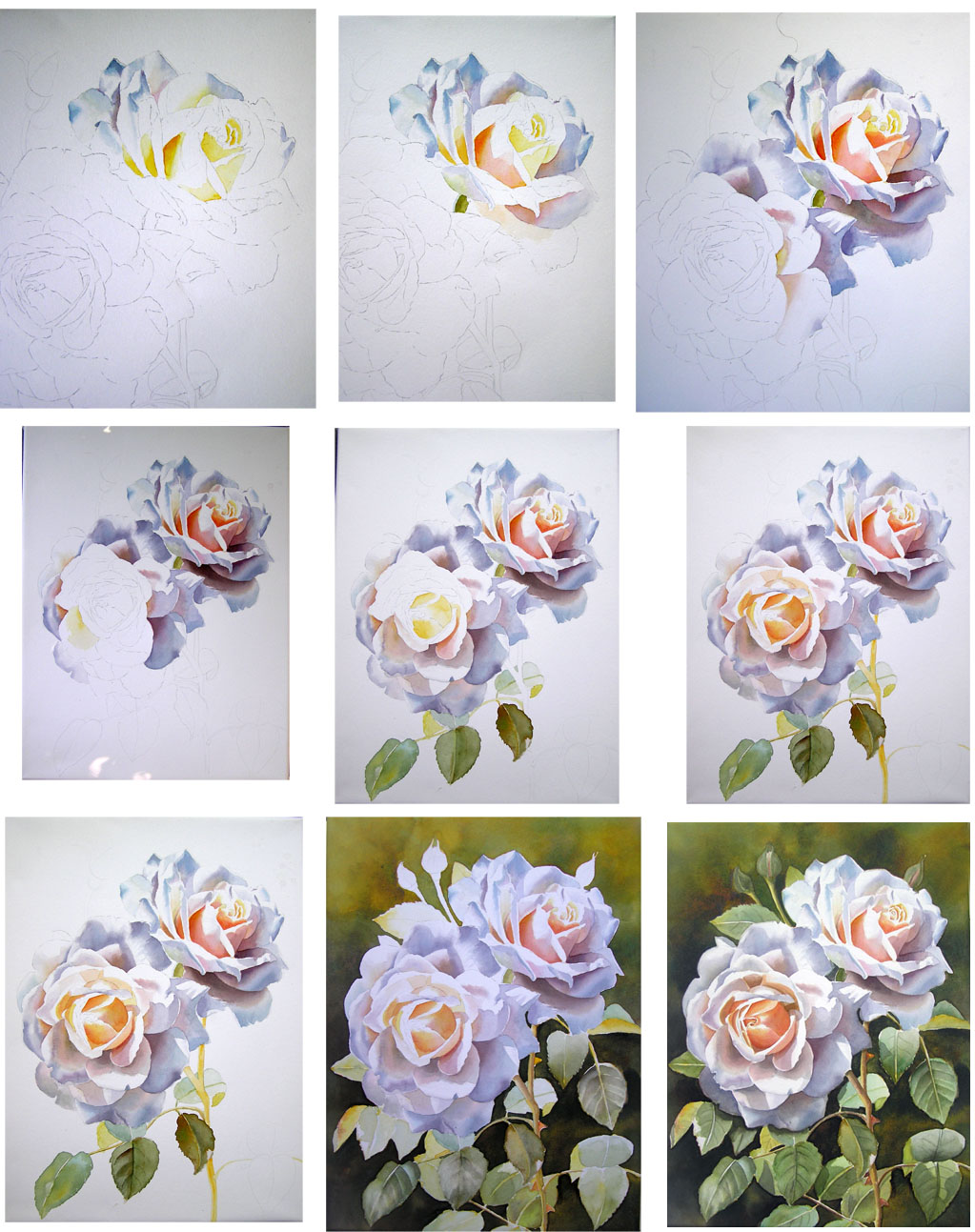 Watercolor Flowers Step By Easy Paintings Of For Kids