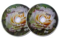 How to paint with watercolors - 2-Disc-DVD-Set by Doris Joa