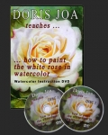 Watercolor DVD / Watercolor Video How to paint the white rose