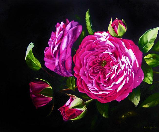 rose heidi klum in oil by doris joa doris joa watercolor oil paintings. Black Bedroom Furniture Sets. Home Design Ideas