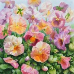 Pansies - Watercolor Painting - Flower Painting - by Doris Joa