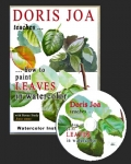 How to paint leaves - Watercolor DVD / Watercolor Online Video by Doris Joa