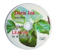 1 Disc-DVD about how to paint leaves in watercolor- watercolor dvd and online lesson
