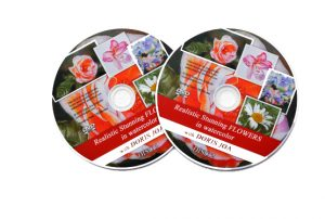 2-Disc-DVD-Set about painting realistic stunning flowers as Watercolor DVD and Online Video Lesson