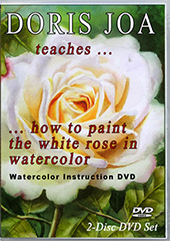 Create stunning rose paintings with leaves and background with this Watercolor Instruction Painting DVD - Paint realistic rose paintings