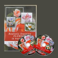 Paint realistic stunning flowers - watercolor painting dvd and video lesson