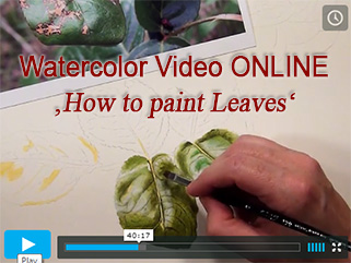 How to paint leaves in watercolor - available as DVD and as Online Lesson