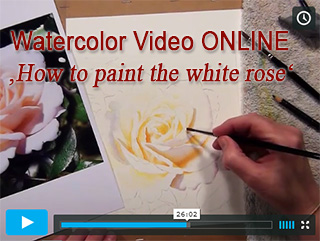 How to paint with watercolors as Video Online Lesson