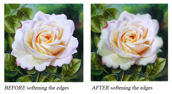 Edges - lost, found, soft edges from Watercolor DVD How to paint with watercolors