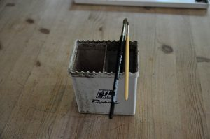 Brush holder for your watercolor brushes