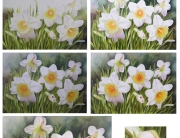 How to paint daffodils - no matter if you paint in oil or watercolor