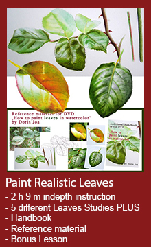 How to paint leaves - Watercolor DVD and Watercolor Video Online Lesson available