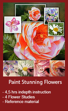 Watercolor DVD and Watercolor Online Videos - Learn to paint realistic stunning flowers - Easy to follow lessons with indepth instruction