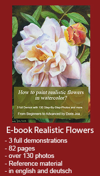 Painting Instruction in waterclor - learn how to paint realistic flowers