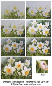 How to paint Daffodils in watercolor