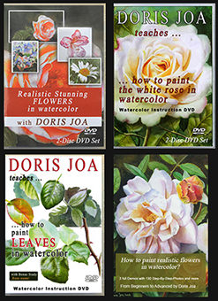 Watercolor DVDs and Online Videos & Watercolor E-book: Bring emotions to your flowers - How to watercolor