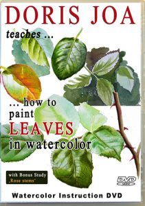 How to paint leaves - watercolor instruction on dvd and as video online